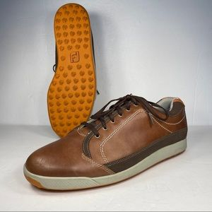 FootJoy FJ Contour Casual Brown Leather Golf Shoes